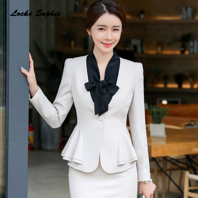 Women Plus Size Slim Fit Blazers Coats 2019 Spring Cotton Blend Irregular Falbala Suits Jackets Ladies Skinny Blazers Suits Coat