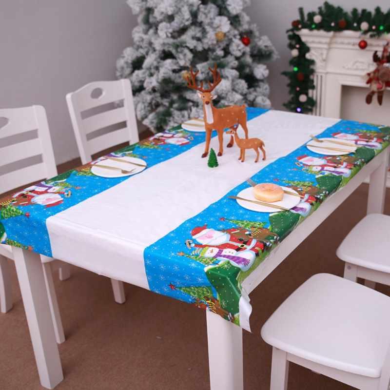 Nonewoven Christmas Decoration Hotel Table Waterproof Pvc Plastic Tablecloth Restaurant Rectangular Disposable Tablecloth D1