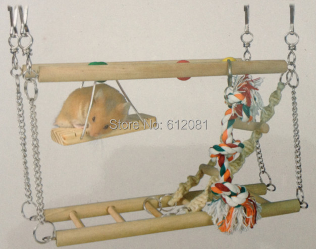 Free shippingsmall pet hamster Bird toy rings round swing parrot toys birds cage accessories