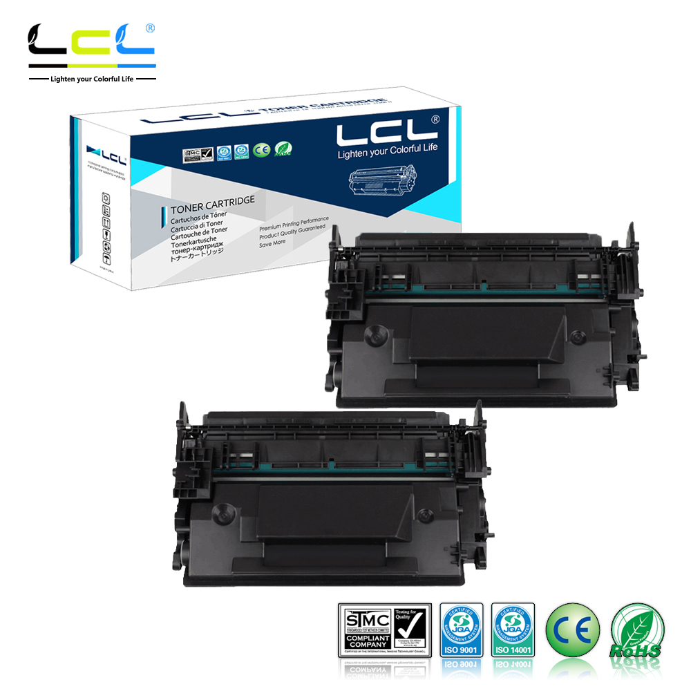 LCL 87A CF287A CF287 287A (2-Pack Black) Toner Cartridge Compatible for HP LaserJet Enterprise M506dn/M506x/M506n black toner cf400a 400a 2 pack toner cartridge compatible for hp color laserjet pro m252dw with chip