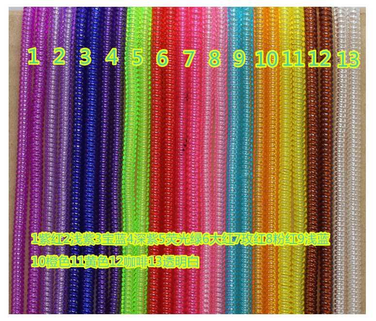 1000 шт. * ясно желе Цвет Пластик Спираль USB Зарядное устройство кабель протектор/обертывание намотки кабеля для зарядные кабели ORGANIZER (ОРГАНАЙ…