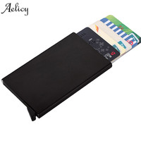 Aelicy Against Theft Brush Security Men Wallets Single Aluminum Box Wallet Credit Card & Id Holders Case Holder Thin Purse