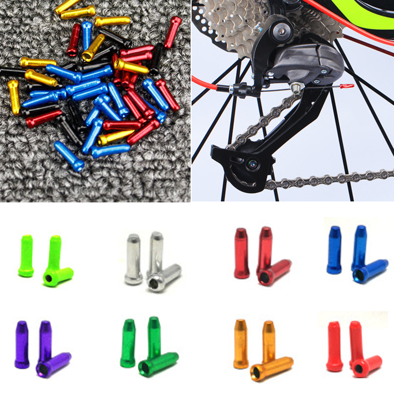 50* Aluminum Bike Bicycle Brake Shifter Inner Cable Tips Wire End Cap Crimps Hot