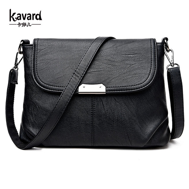 Kavard Women Messenger Bags High Quality Pu Leather Handbags Small Shell Purses Famous
