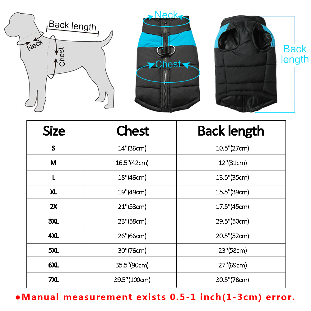 Waterproof Dog Jacket with Zipper for Large Dogs Made with Nylon Material 5