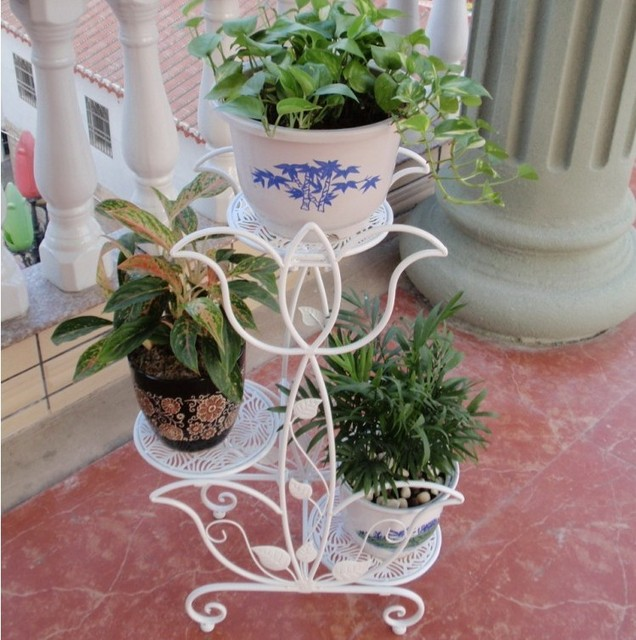 666 iron flower stand balcony flower French flower pot flower pot holder & 666 iron flower stand balcony flower French flower pot flower pot ...