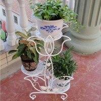 666 iron flower stand balcony flower French flower pot flower pot holder
