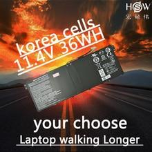 HSW New 11.4V 36 wh Laptop Battery for Acer Aspire E3-111 V3-111 V3-111P V5-122 KT0030G AC14B18J 4ICP5/57/80  bateria цена в Москве и Питере