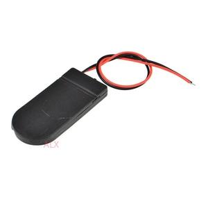 Image 2 - 5 PCS CR2032 Knoopcelbatterij Socket Holder Case Cover Met AAN/UIT Schakelaar 3 V x2 6 V batterij Opbergdoos