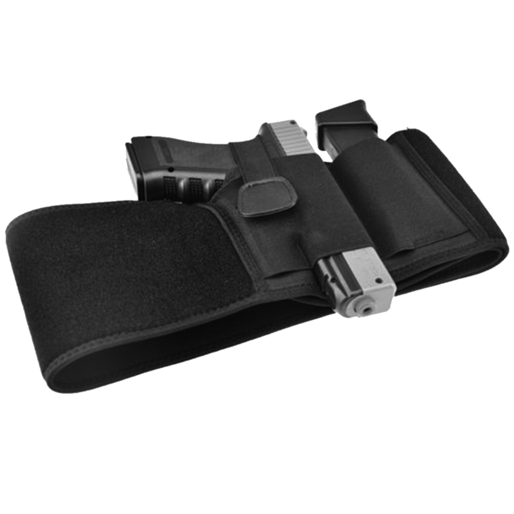 Adjustable Concealed Carry with Elastic Secure Strap Pistol Concealment For Glock, M&P Shield, Kahr, Beretta, Springfield