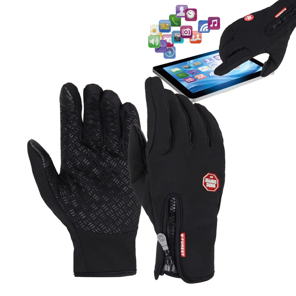 Windproof Bicycle Motorcycle Gloves Female Men Warm Snowboard Ski Gloves Winter Gloves Thermal Touchscreen Skiing Cycling Gloves