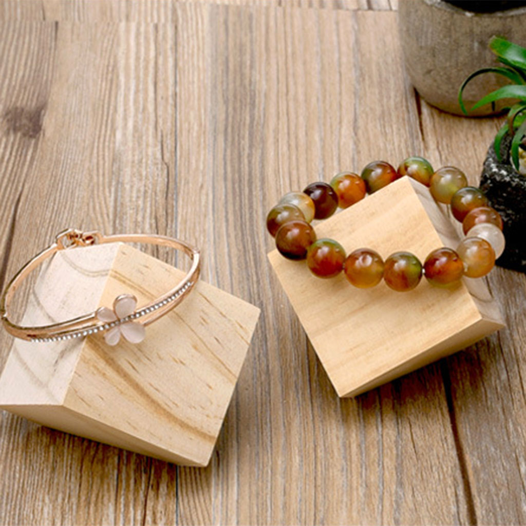 Unpainted Unfinished Wooden Bracelet Jewelry Display Stand Holder Showcase Wooden Jewelry Organizer Joyeros Organizador De Joyas