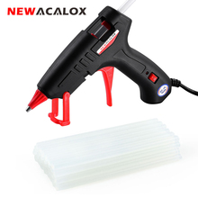 NEWACALOX EU/US 100V~240V 30W Mini Hot Melt Glue Gun with 20pcs 7mm Glue Sticks for Arts Crafts School Home Repair DIY Hand Tool