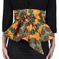 Dama de la moda africana impreso individualidad femenina cinturón correa de las mujeres hermosas de ankara cera batik batik de impresión pretina dashiki