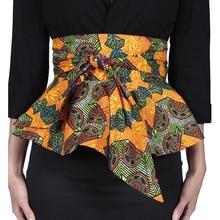Dama de la moda africana impreso batik cinturón individualidad femenina cinturón de ankara mujeres hermosa impresión de cera batik cintura dashiki