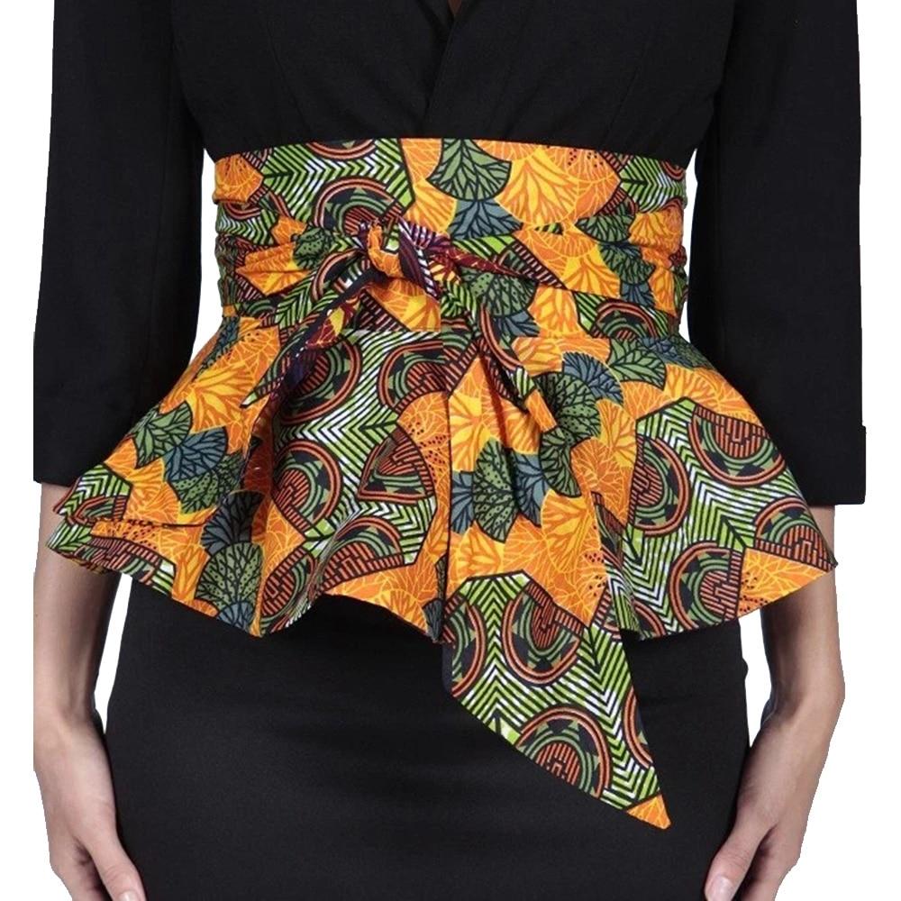 Mode Dame Africain Imprimé Batik Ceinture Femme
