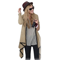 2 Color Size S L 2014 Fashion Women Winter Cardigan Knitted Leisure Irregular Collar Long Sleeve