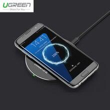 Для Samsung S7 Ugreen Быстрая Зарядка Ци Беспроводное Зарядное Устройство Для Galaxy примечание 5 Ци Беспроводной Зарядки Pad Для Galaxy S6 Edge + Nexus HTC
