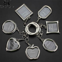 Creative Couple Picture Frame Key Holder Personalized Love Key Chain Photo Wallet Key Ring LOGO