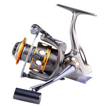 цена на Deshion 13BB Full Metal Spinning Fishing Reels 3000 4000 Series Carp Fishing Reel Suitable for Freshwater/Saltwater