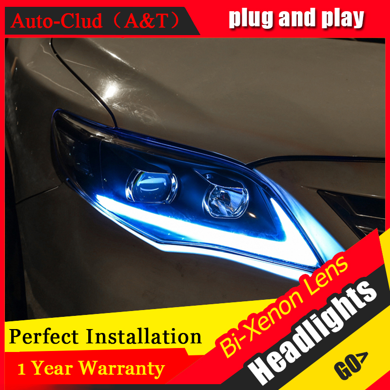 Car Styling For toyota corolla led headlights For corolla head lamp Angel eye led front light Bi-Xenon Lens xenon HID KIT car styling for chevrolet trax led headlights for trax head lamp angel eye led front light bi xenon lens xenon hid kit