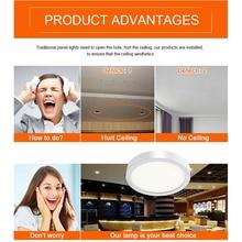 4pcs/lot Round 5W 8W 16W 22W 30W LED Panel Recessed Light Surface Mount Aluminum Plate LED flat lamp LED ceiling lamp