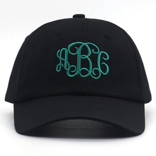 Ladies Fashion Monogram Baseball Cap 100% cotton embroidery dad hat men snapback hats New casual caps simple golf all match