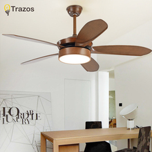 TRAZOS Modern Led Ceiling Fan Ventilador De Teto 220Volt 5 Blades Fans Lamps With Lights For Living Room home lighting