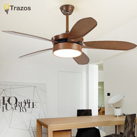TRAZOS Modern Led Ceiling Fan Ventilador De Teto 220Volt 5 Blades Ceiling Fans Lamps With Lights For Living Room home lighting