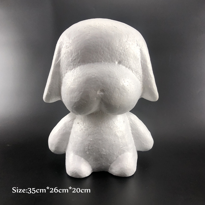 1 pcs Foam Dog Rabbit White Craft Modelling Polystyrene Styrofoam Balls For DIY Party Decoration Supplies Gifts Valentine's Day