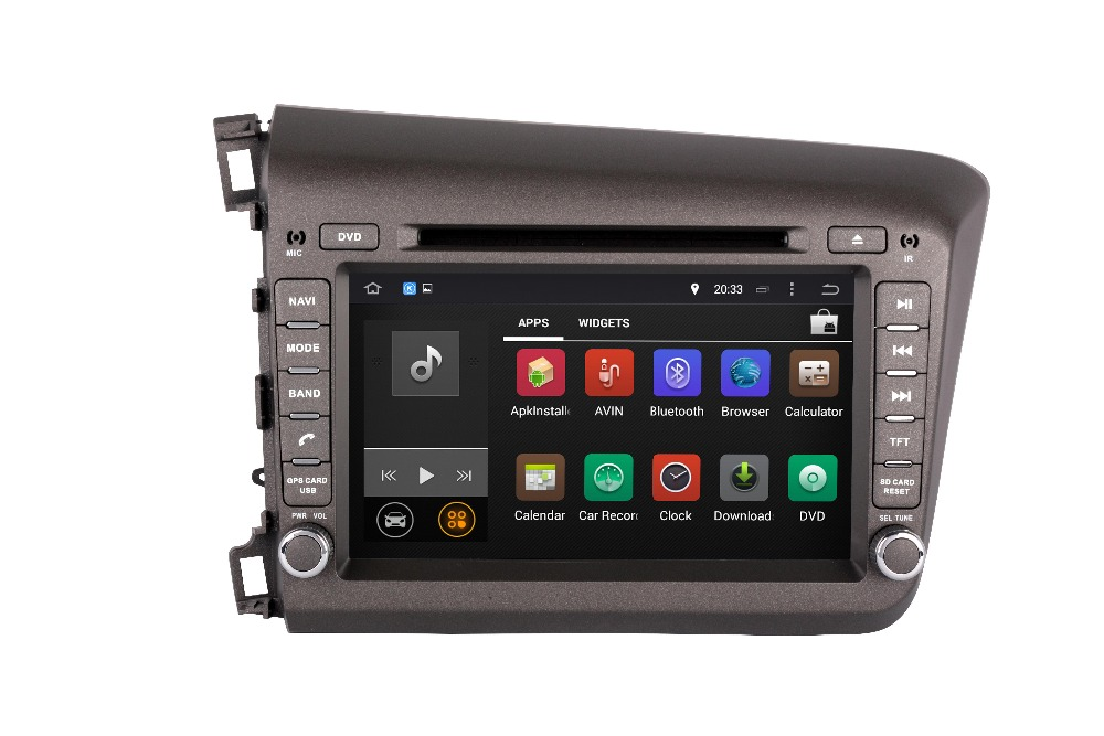 2 Din 8 INCH Octa/Quad Core Android Fit HONDA CIVIC 2012 2015 Car DVD Player Multimedia Navigation GPS Radio DVD TV 3G WIFI MAP