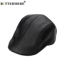 BUTTERMERE boinas negras de cuero Real de los hombres casuales de pico de  pato de sombreros de hombre de lujo italiano Otoño Inv.. 4c2dab6e0f6