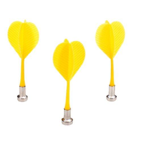 5Set Sale 3Pcs Bullseye Target Game Plastic Magnetic Flat Tipped Darts-Yellow