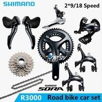 SHIMANO SORA R3000 2x9 18S Speed road car kit Bicycle Crane Sprocket Kit Bicycle Parts Accessories Drive Kit gift Free Shipping