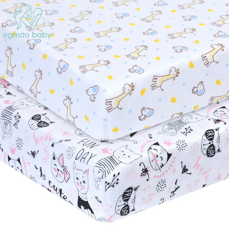 Comfort Knitting Cotton Newborn Bebe Fitted Crib Sheet Newborn Photography Props Neonato Baby Cot Size 130*70*CM