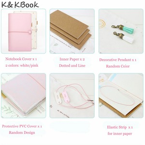 Image 5 - K&KBOOK Kawaii Leather Notebook A6 Travelers Notebook Diary Portable Journal Dotted Notebook Planner Agenda Organizer Caderno