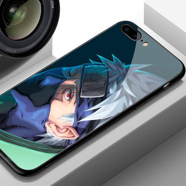 Naruto Kakashi Funda de Vidrio Templado para iPhone (12 Colores)