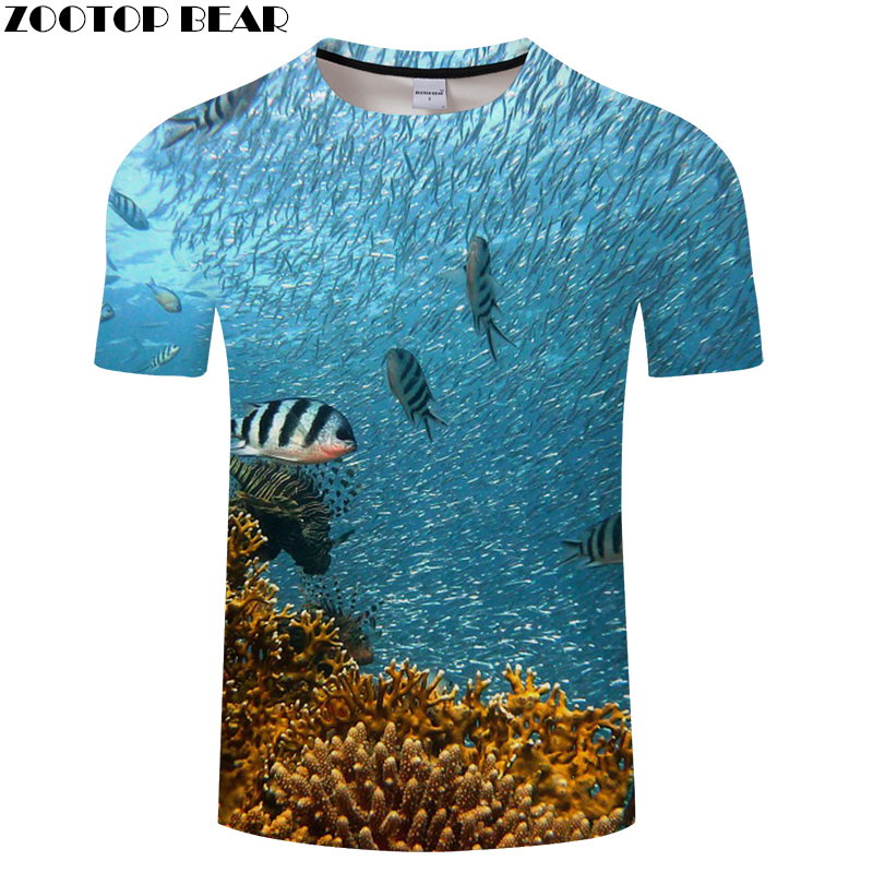 Tops & Tees Seaworld Tshirt 3d Fish T Shirt Men Women T-shirt Anime Tee Harajuku Top Streatwear 2018 Hombre Short Sleeve Dropship Zootopbear A Plastic Case Is Compartmentalized For Safe Storage