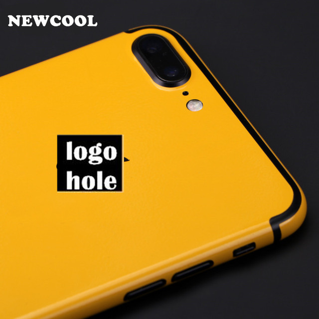 For iphone7 plus yellow back film 3 parts protective cover stickers for iphone 7 7 plus