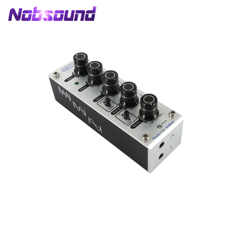 Nobsoudn Hifi Mini Stereo Tone Control Pre-Amp Preamplifier Headphone Amplifier AMP ne5532 stereo pre amp preamplifier tone board audio 4 channels 12 24v ac amplifier module