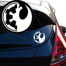 Star Wars Imperial and Rebel Combined Vinyl Decal Sticker # 911 (4 x 4, White)