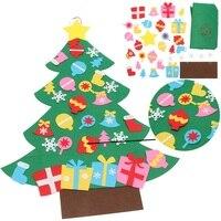New Kids DIY Cảm Thấy Cây Giáng Sinh Set với Đồ Trang Trí Trẻ Em Món Quà Toddler Cửa Tường Treo Home Trang Trí Đồ Trang Trí Món Quà