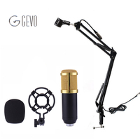 BM 800 Professional 3 5mm Wired Sound Recording Condenser Microphone With NB 35 Microphone Stand For