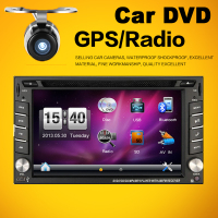 IN-DASH 6.2 Inch Double 2 Din Car DVD Autoradio With GPS Navigation Bluetooth Free MAP For Universal Car Console