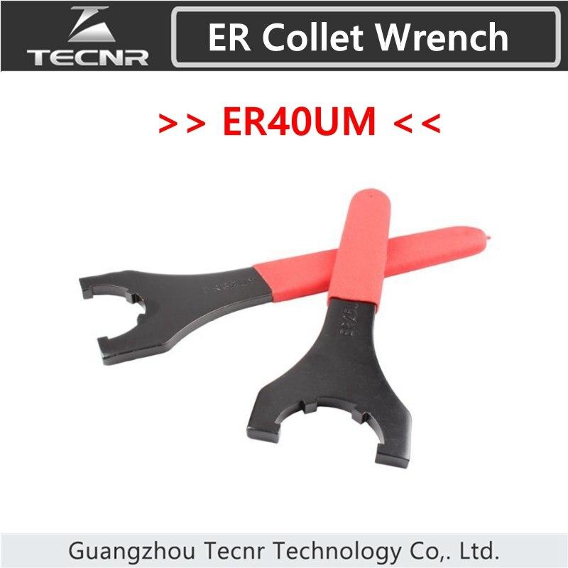 ER40UM Collet Wrench ER40 UM Black High Carbon Steel with Skidproof Cover
