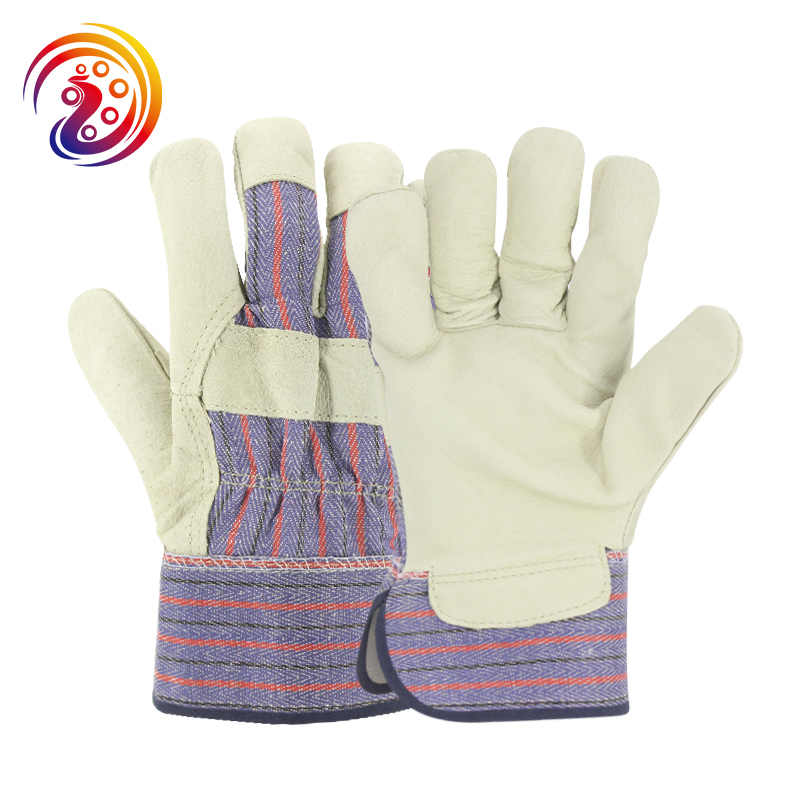 цена на OLSON DEEPAK Work Gloves Leather Pigskin Factory Driving Gardening Carrying Welding Protective Gloves HY023