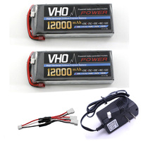 2pcs Drone Lipo Battery Pack 7 4v 12000mAh 25C 2S And UL Charger For Rc Airplane