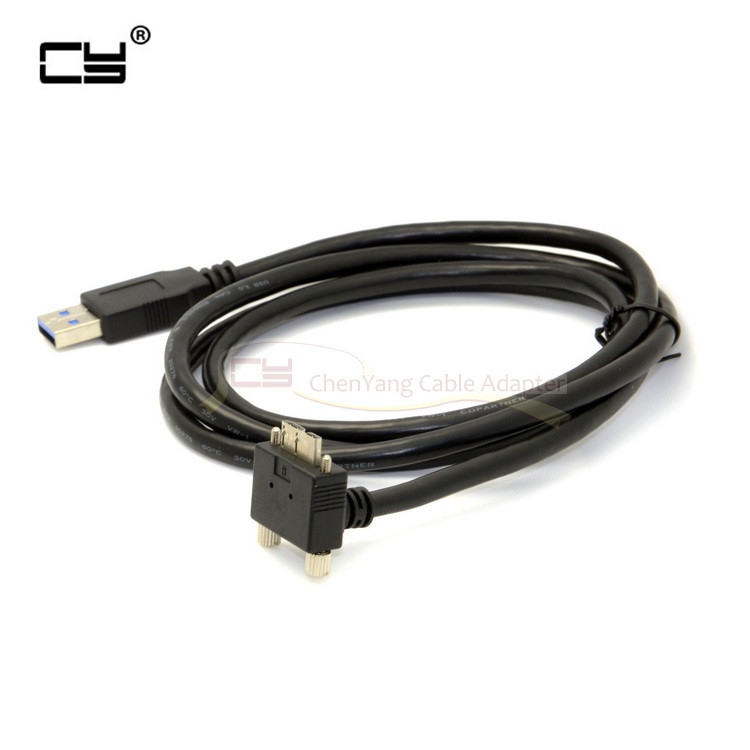 5m 3m 1.2m Micro USB Screw Mount to USB 3.0 Data Cable for Grey Chameleon Camera