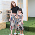 2017 Holiday Family Set Chiffon Mother Daughter Dress Mom and Daughter Dresses Clothes Family Clothing Parent-Child Set WL80