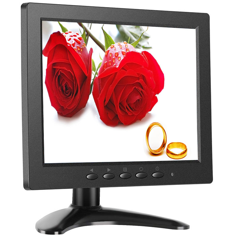 8 inch lcd monitor 1024*768 8 inch usb monitor mini desktop hdmi monitor with AV/BNC/VGA/HDMI/USB interface 15 cctv security monitor lcd hdmi bnc vga av usb port audio video 1024 768